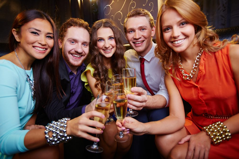 Graphicstock A Group Of Friends Toasting With Glasses Of Champagne Rye8Do Fcxw Med Rez