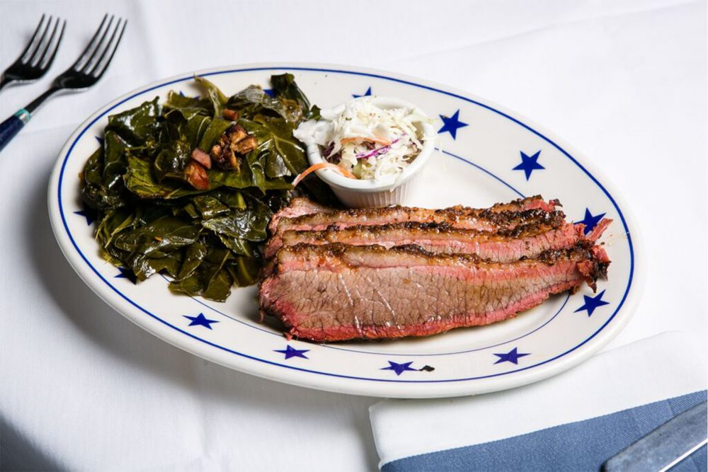 the local 0000 Cherry-smoked-sliced-beef-brisket-with-bacon-collard-greens-and-cole-slaw