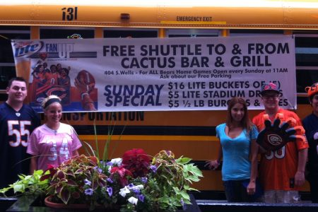 Bears Game Shuttle Bus at Cactus Bar and Grill