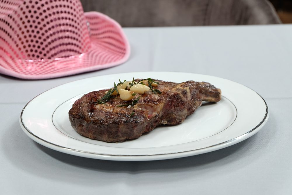 Bone In Cowgirl Steak With Pink Hat