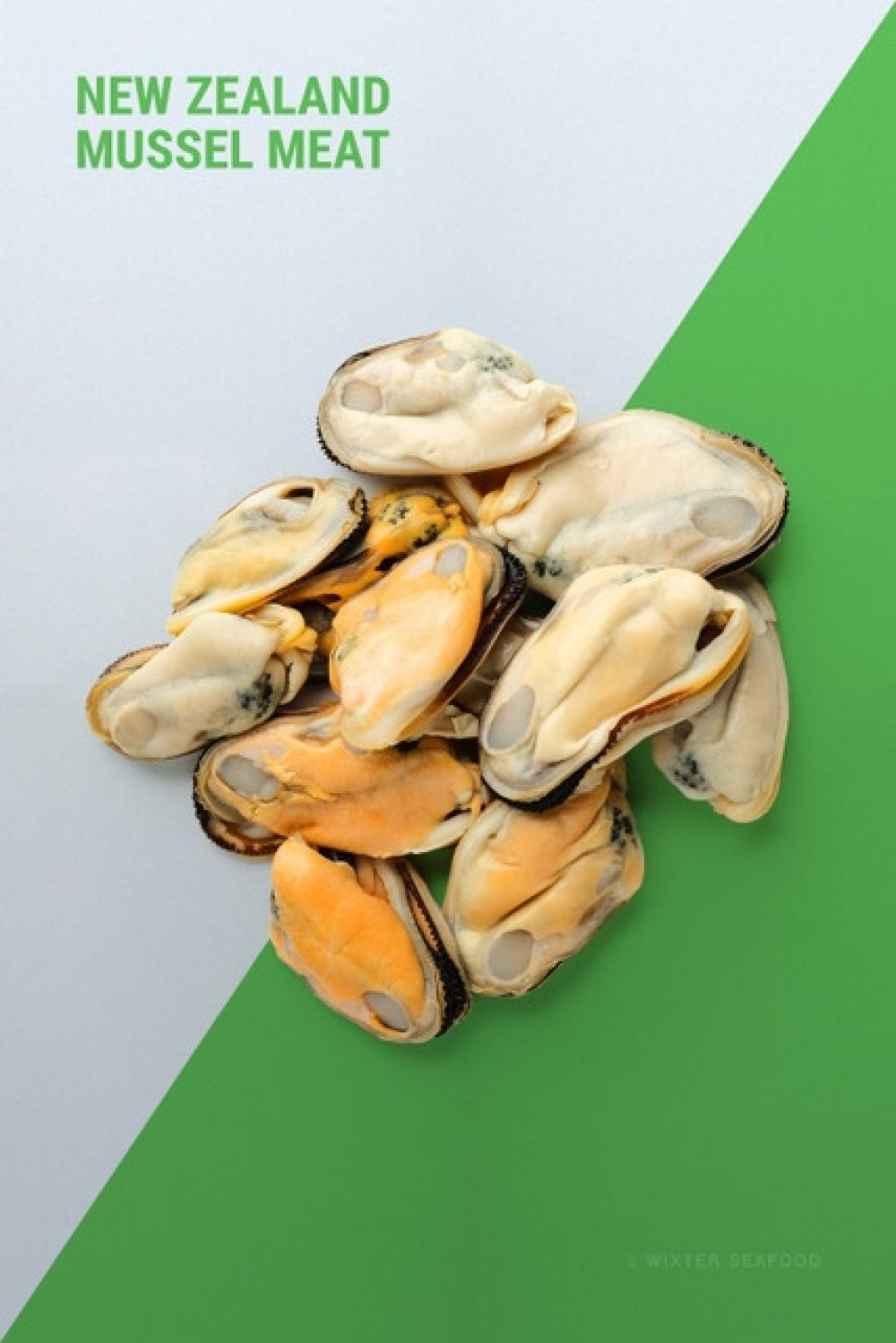 Wixter Seafood Frozen Product Vertical Mussel Meat V1