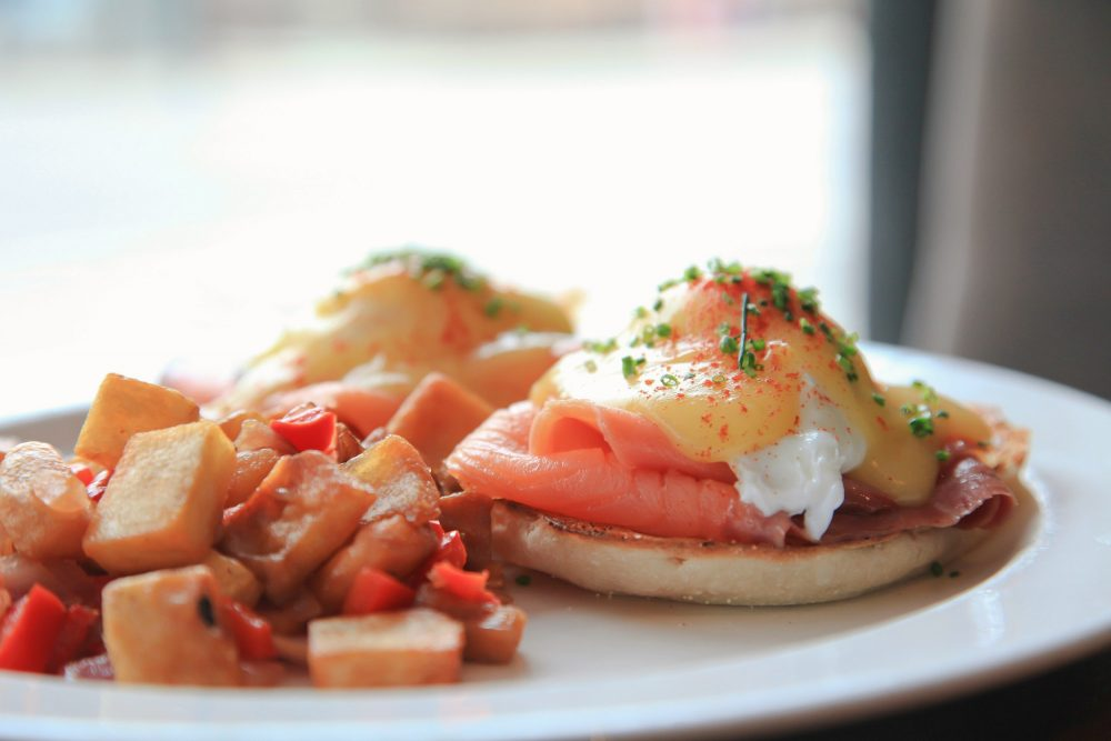 Hutch American Cafe's Smoked Salmon Eggs Benedict
