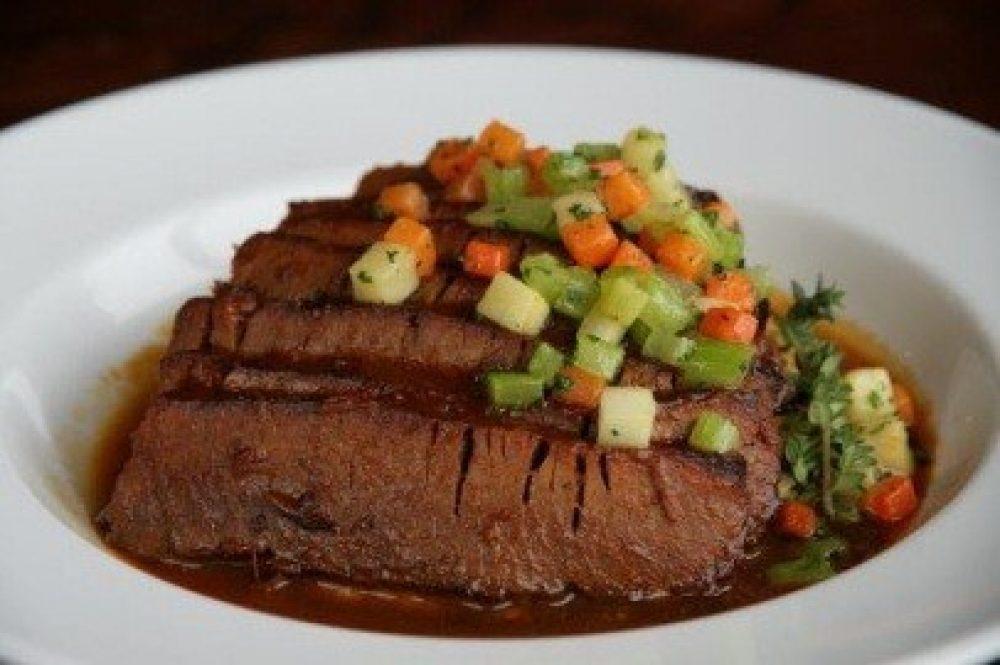 BBQ Braised Brisket and Roasted Cauliflower.