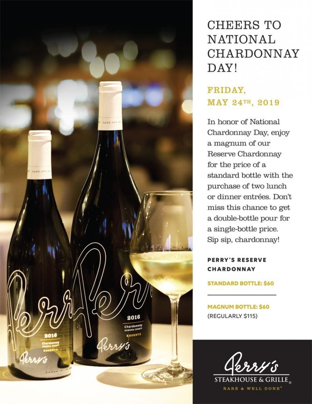 Perrys Chardonnay Promotion Poster