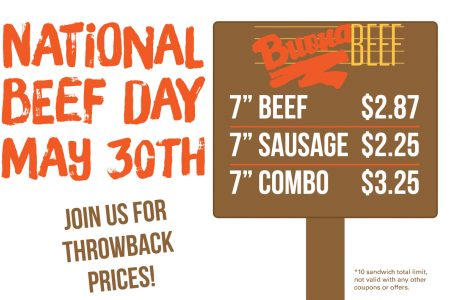 Buona Celebrates National Beef Day with Half Off Italian Beef Sandwiches
