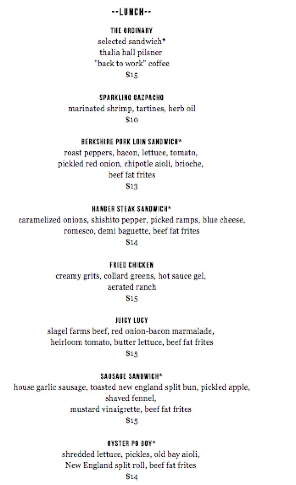 Duseks-lunch-menu
