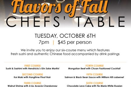 "​Koi Hosts Six-Course ""Flavors of Fall"" Dinner"